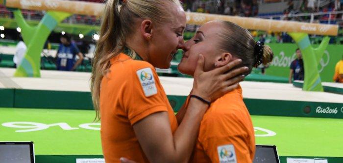 Rio Olympics: Hugs and kisses