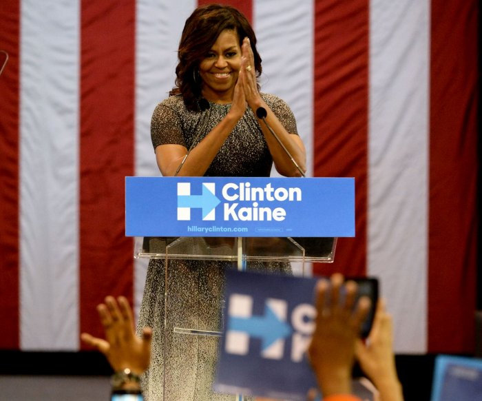 POTUS and FLOTUS campaign across the country for Hillary