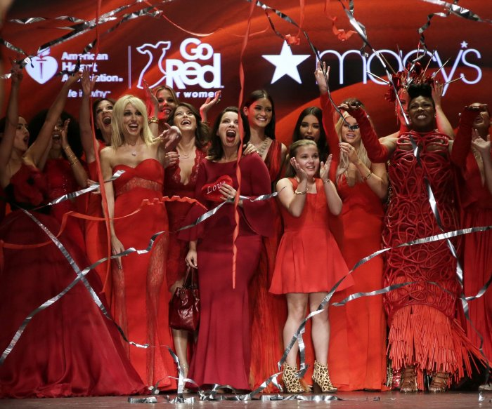 Celebs walk the runway in the Red Dress Collection 2016