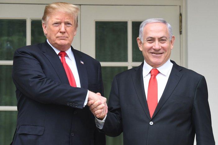 President Donald Trump, Israeli Prime Minister Benjamin Netanyahu meet at White House