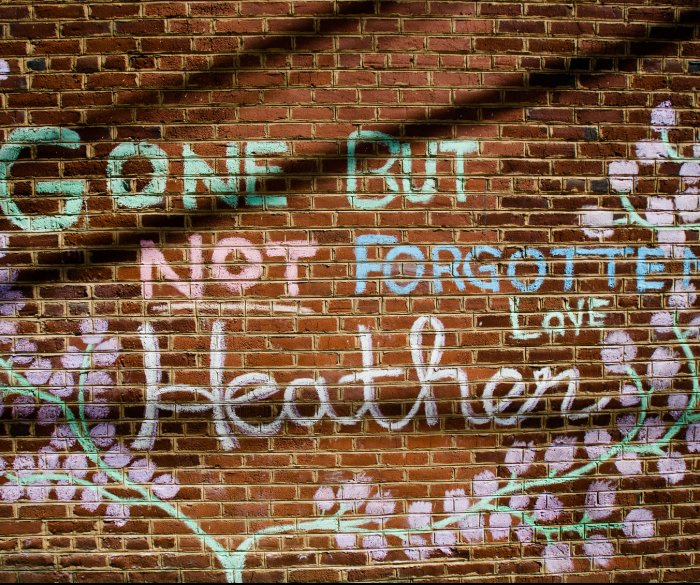 Memorial to slain Charlottesville activist Heather Heyer