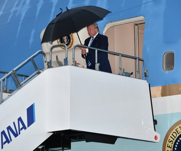 Donald Trump arrives in Japan ahead of G20 summit