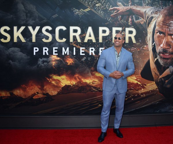Dwayne Johnson attends 'Skyscraper' premiere in NYC