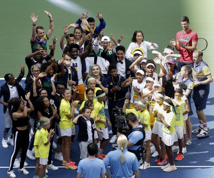 Meg Donnelly, Austin Mahone appear at Arthur Ashe Kids' Day