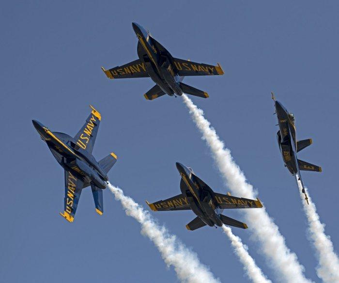 U.S. Navy's Blue Angels perform in Florida