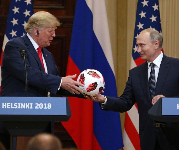 President Trump meets with Russian President Putin in Helsinki