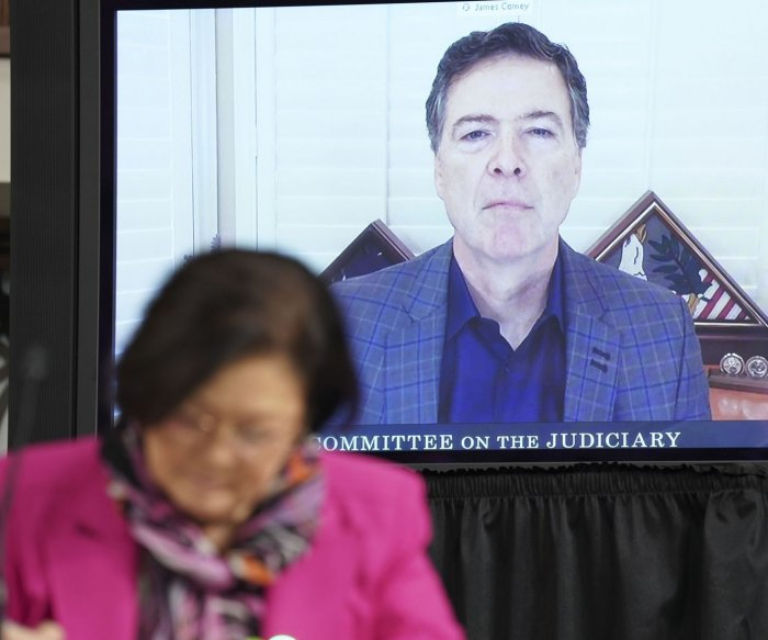 Comey defends FBI probe of Trump-Russia links at Senate hearing