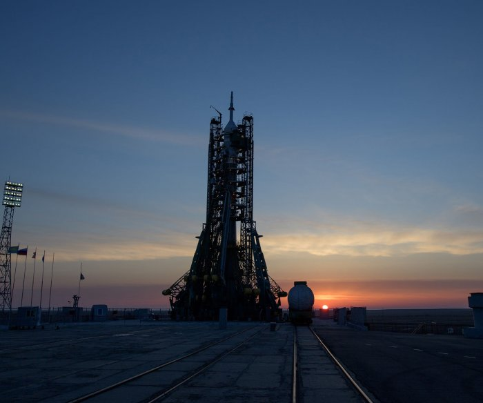 NASA astronaut launches to space station from Kazakhstan