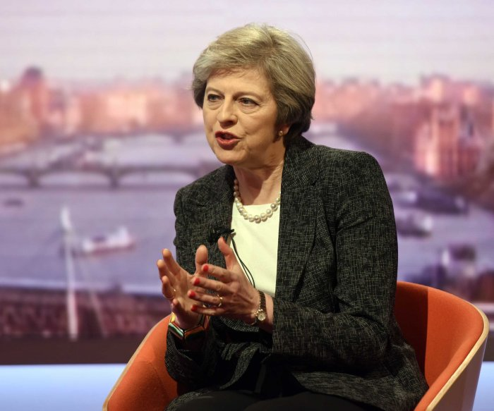 Britain's May refuses to talk about reported test missile failure