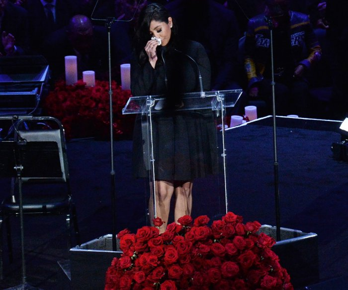 Kobe Bryant's widow Vanessa remembers husband, daughter at LA memorial
