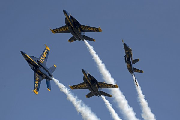 U.S. Navy's Blue Angels perform in Florida