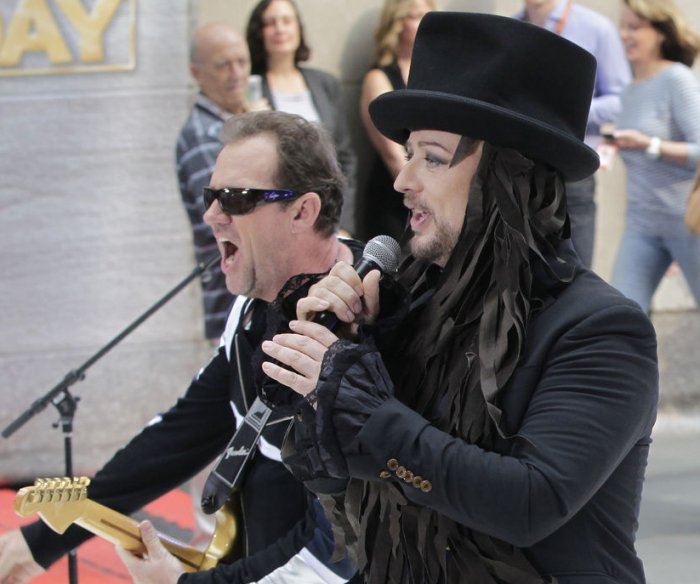 Boy George and Culture Club perform on the 'Today Show'