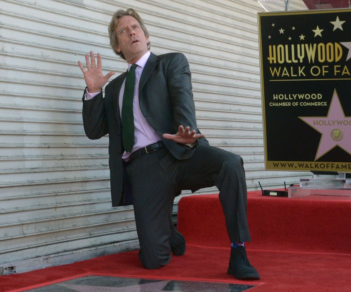 Hugh Laurie honored with a star on the Hollywood Walk of Fame