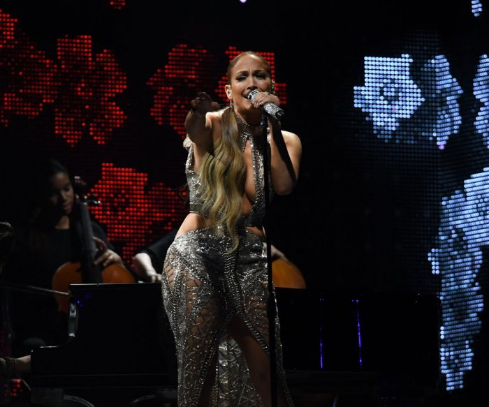 Jennifer Lopez performs at 2017 Billboard Latin Music Awards