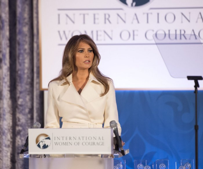 Melania Trump urges women's empowerment in speech