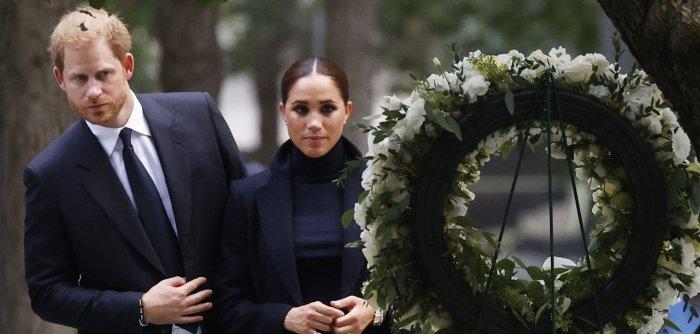 Prince Harry, Meghan Markle visit 9/11 memorial in NYC