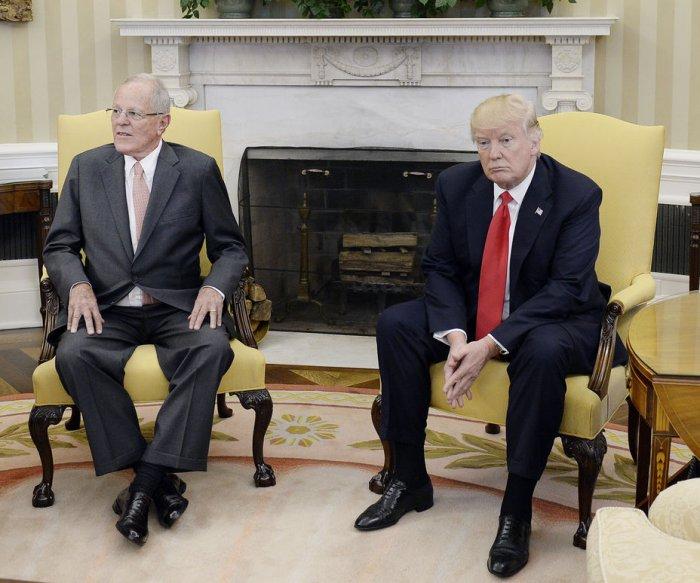Peruvian leader meets Trump: 'We have excellent relations'