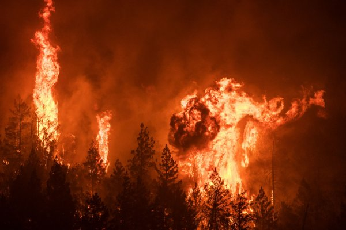 Scenes from California's record-breaking wildfire season