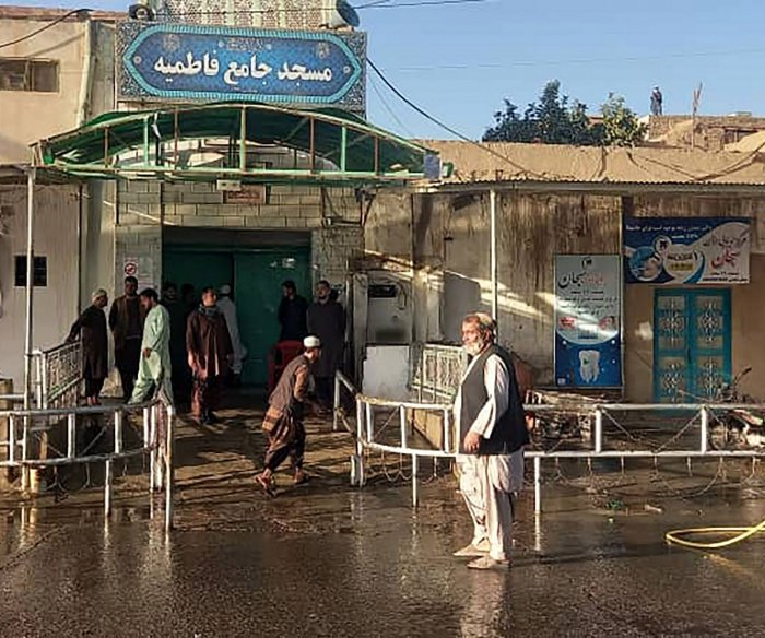 Suicide bomb attack at Afghanistan mosque kills at least 50 worshipers