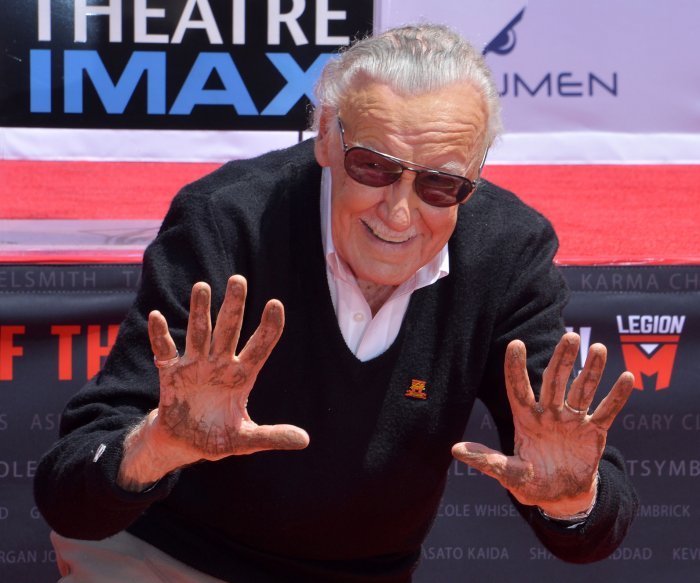 Stan Lee honored at Hollywood handprint ceremony