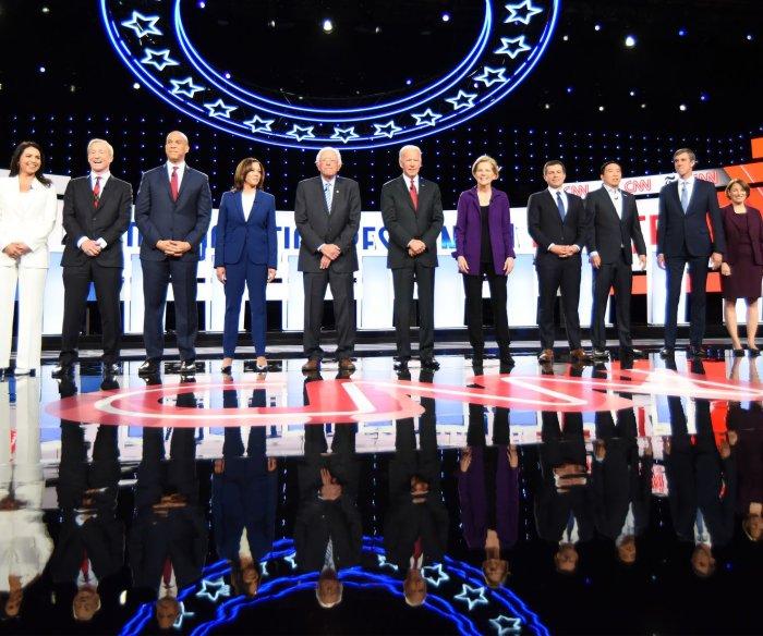 Democrats debate Trump impeachment, Syria, abortion