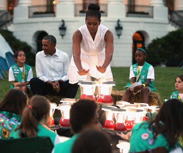 The Obamas host first ever White House campout