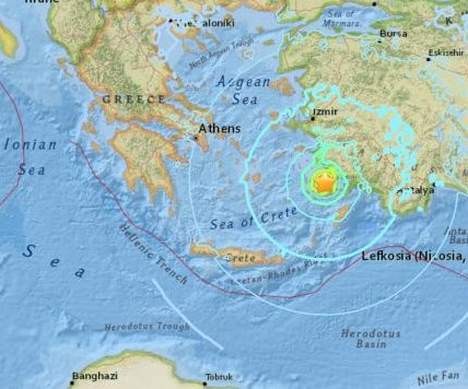 6.7-magnitude earthquake kills 2 in Greece