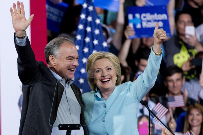 Hillary Clinton introduces Sen. Tim Kaine as her running mate