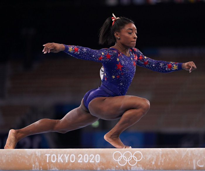 American Simone Biles will return for balance beam final at Olympics