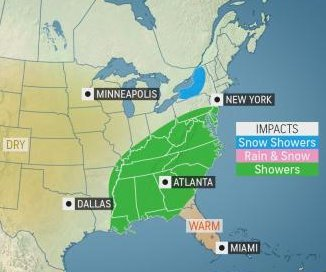 Storms to disrupt Thanksgiving travel across U.S.
