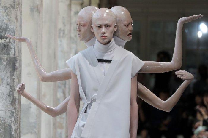 On the runway at Men's Paris Fashion Week