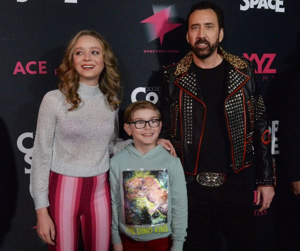 Nicolas Cage, Kesha attend the 'Color Out of Space' premiere in LA