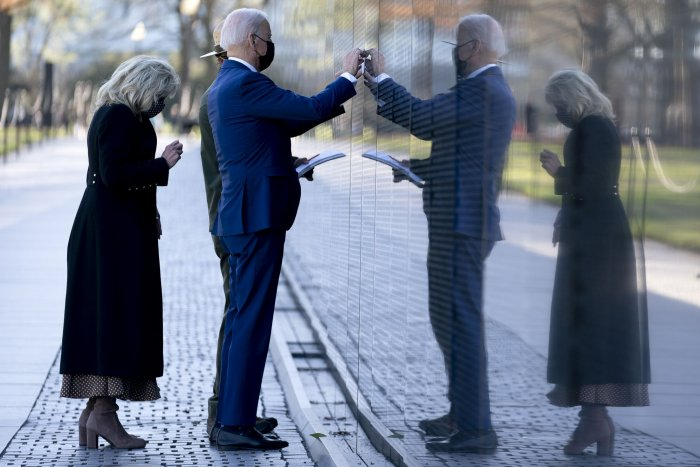 President Joe Biden visits Vietnam Veterans Memorial