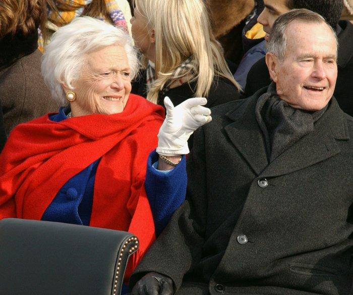 Barbara Bush joins husband in Texas hospital as 'precaution'
