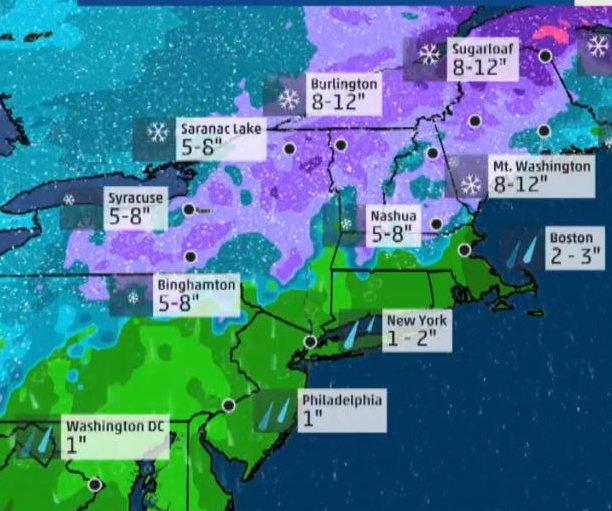 Nor'easter bringing winds, snow, sleet, freezing rain