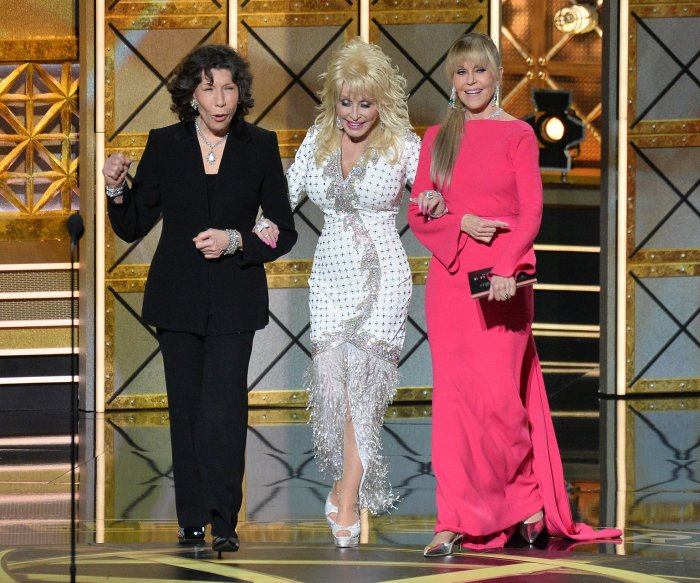 Onstage at the Emmys