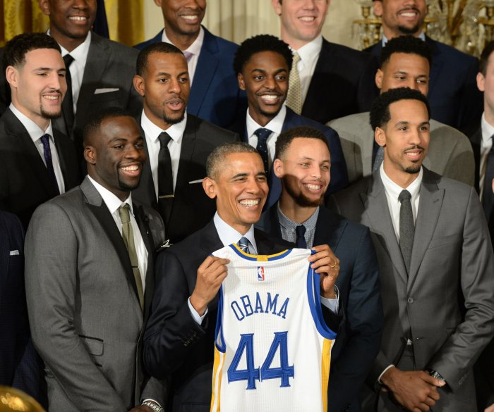 Obama honors Golden State Warriors at the White House