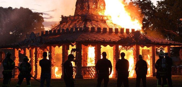 Temple of Time set ablaze