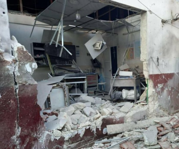 At least 18 killed in missile attack on Syrian city, hospital
