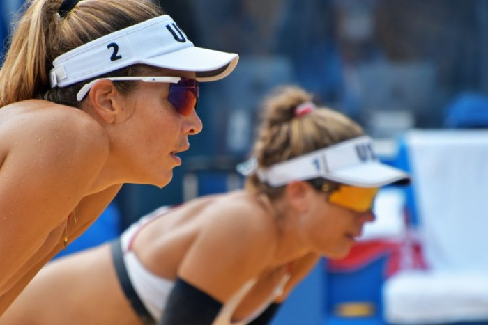 Tokyo Olympics: Moments from beach volleyball
