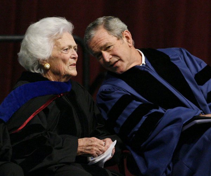 Former first lady Barbara Bush through the years