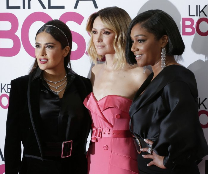 Salma Hayek, Tiffany Haddish attend 'Like A Boss' premiere in NYC