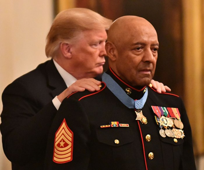 Marine who saved 20 lives during Vietnam receives Medal of Honor