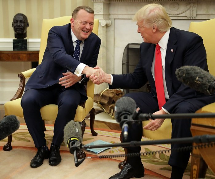 Trump meets with Danish PM Rasmussen to talk trade, immigration