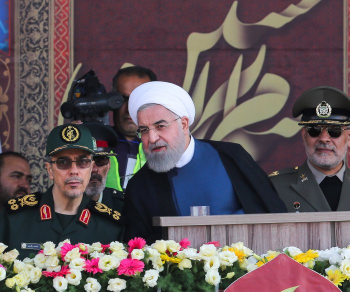 Iranian President warns U.S., other foreign nations to stay away