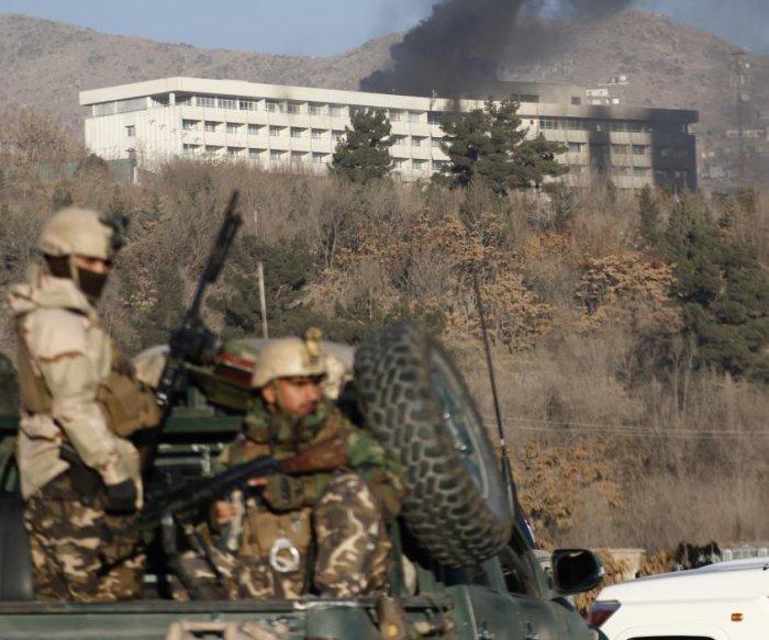 6 civilians, 5 gunmen killed in attack on Kabul hotel