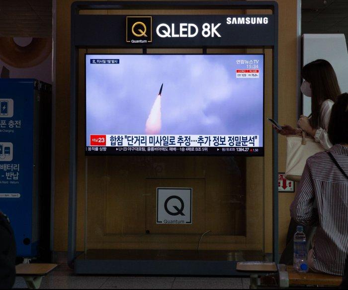 North Korea fires ballistic missile into sea