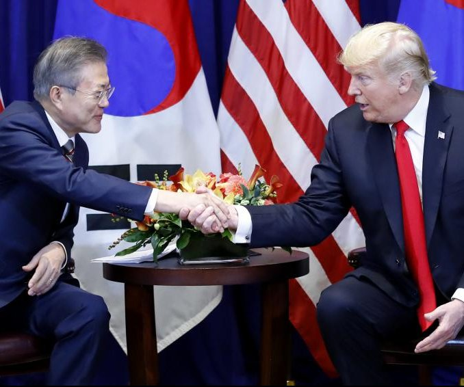 Moon, Trump agree progress being made on North Korea