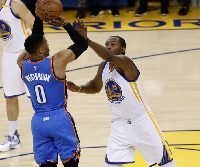 Russell Westbrook, Oklahoma City Thunder storm past Golden State Warriors
