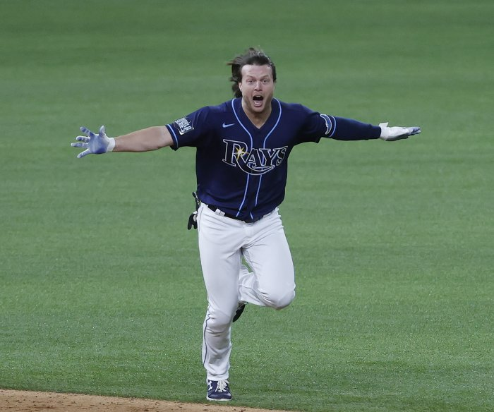 World Series: Rays stun Dodgers in ninth inning to win Game 4